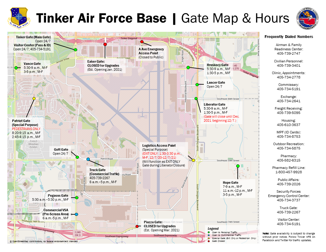 Icon link to Tinker Gate Hours Map